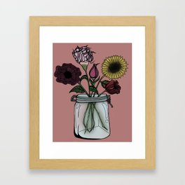 Jar of Flowers Framed Art Print