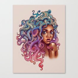 Sea Foam Freckles Canvas Print