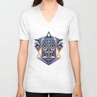 totem V-neck T-shirts featuring Totem by Naia Ceschin