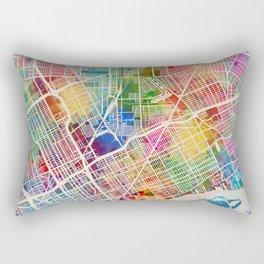 Detroit Michigan City Map Rectangular Pillow
