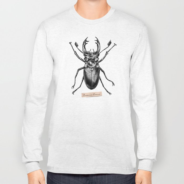 Stag Beetle - Lucanus Cervus Long Sleeve T-shirt