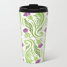 Thistles - Color PAttern Metal Travel Mug