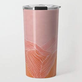 Lines in the mountains - pink II Travel Mug