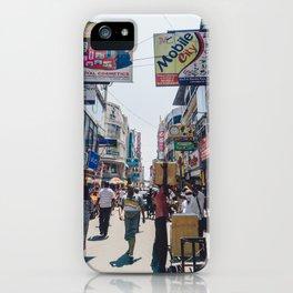 Streets of the Market, Colombo, Sri Lanka iPhone Case