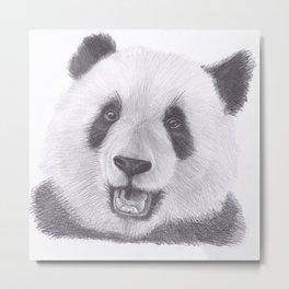 Panda Bear Drawing Metal Print