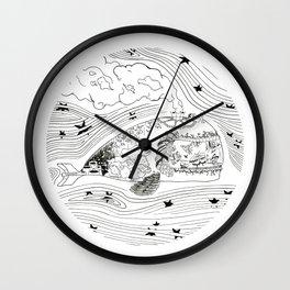 Wanderlust Series - Whale Wall Clock