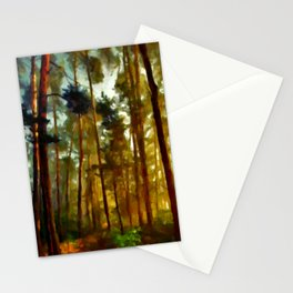 Morning In The Woods - Painting Style Stationery Cards