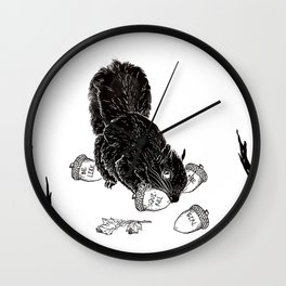 Little Acorns - The White Stripes Wall Clock