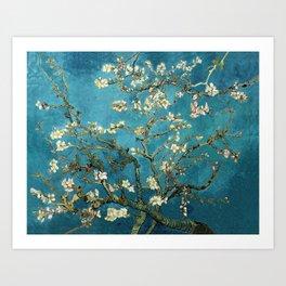 Blossoming Almond Trees, Vincent van Gogh. Famous vintage fine art. Art Print