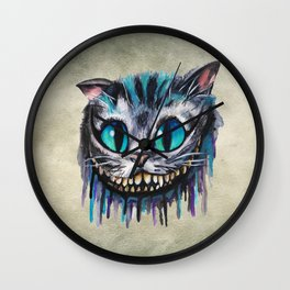 Cat Painting 18 Wall Clock