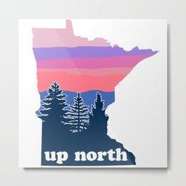 Up North Minnesota Blush Sunset Metal Print