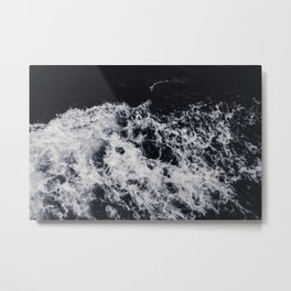 OCEAN - WAVES - SEA - ROCKS - DARK - WATER Metal Print