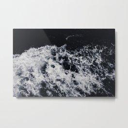 OCEAN - WAVES - SEA - ROCKS - DARK - WATER Metal Print