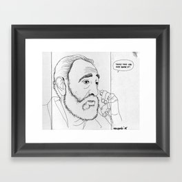Fidel Framed Art Print
