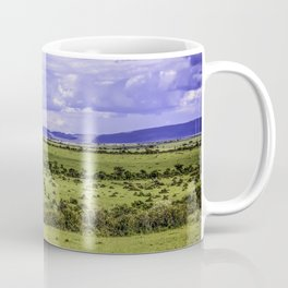 Rain Clouds Form over the Horizon of the Masai Mara National Reserve in Kenya Coffee Mug