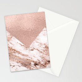 Pastel pink warm rose marble Stationery Cards