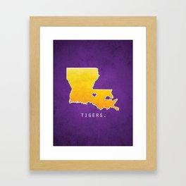 Louisiana State Tigers Framed Art Print