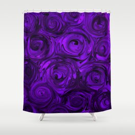 Violet Roses Shower Curtain