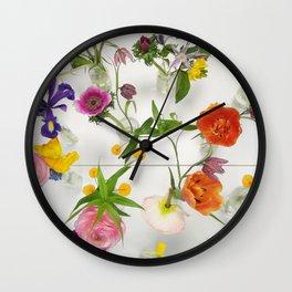 Spring Flowers - JUSTART (c) Wall Clock