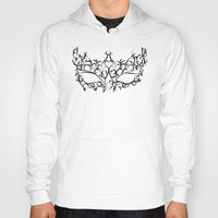 mask Hoodies featuring Mask by Jessica Slater Design & Illustration