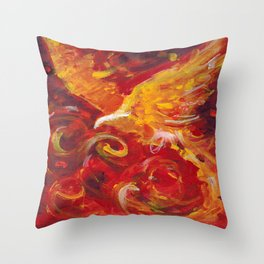 Pheonix Bright  Throw Pillow