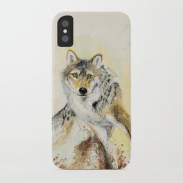 Totem Wolf: Gray wolf (c) 2017 iPhone Case