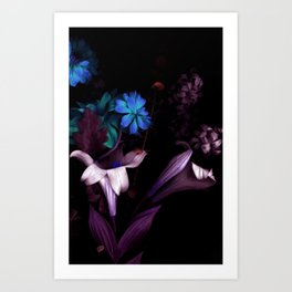 Purple Flower Vibes Art Print