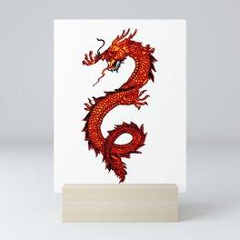 Mythical Red Dragon Mini Art Print