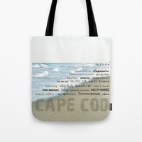 cape cod Tote Bags featuring cape cod by marie grady palcic