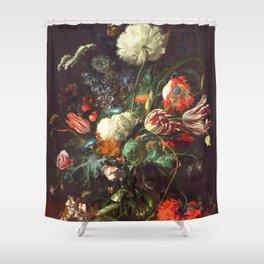 Vase of Flowers II - de Heem Shower Curtain