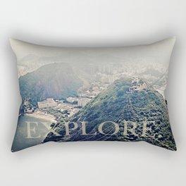 explore. Rectangular Pillow
