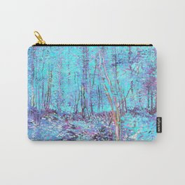 Van Gogh Trees & Underwood Aqua Lavender Carry-All Pouch