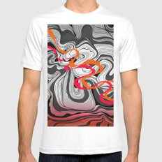 Antelope Canyon White Mens Fitted Tee MEDIUM