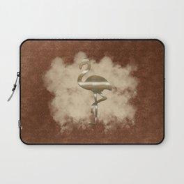 Gold Flamingo Cloud Laptop Sleeve