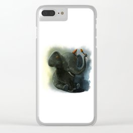 Painting Elephant Clear iPhone Case