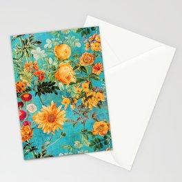 Vintage & Shabby Chic - Blue Botanical Flowers Summer Day  Stationery Cards