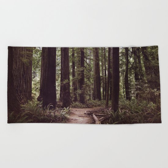 Redwood Forest Beach Towel