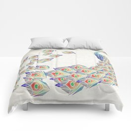 white peacock Comforters