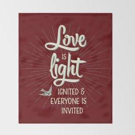 Love is Light Throw Blanket