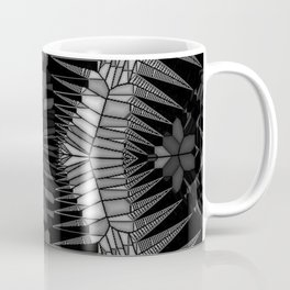 B & W Stained Glass - Hour Glass Accordian Coffee Mug