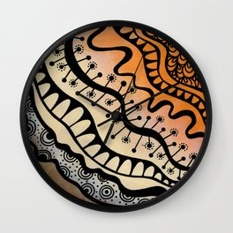 From copper to bronze tangled Wall Clock