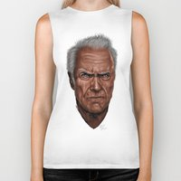 clint barton Biker Tanks featuring Clint by Palm