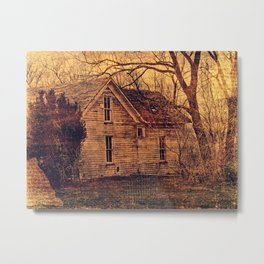 Abandoned House in Iowa Metal Print