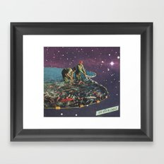 an alien coast Framed Art Print