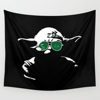 yoda Wall Tapestries featuring Yoda by eARTh