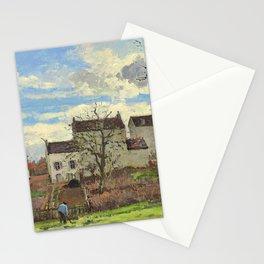 """Camille Pissarro """"Maisons sur un coteau, hiver, environs de Louveciennes"""" Stationery Cards"""