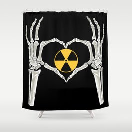 Rad Tech X Ray Skeleton Radiology Technican Gift Shower Curtain