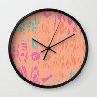 leopard Wall Clocks featuring leopard by Grace