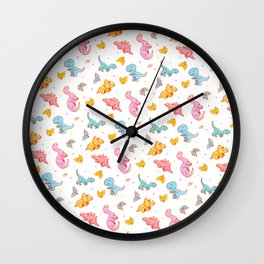 Dino party Wall Clock