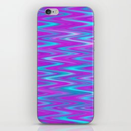 WAVY #1 (Purples, Violets & Turquoises) iPhone Skin